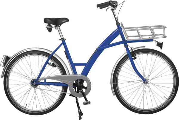 Transportfahrrad Modus blau, Beleuchtung mit Lastenträger