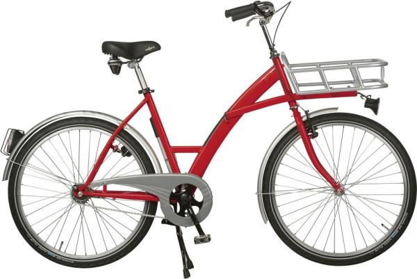 Transportfahrrad Modus rot, Beleuchtung mit Lastenträger