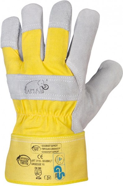 Handsch.Mammut,Rind/Kernspaltleder,Gr.8