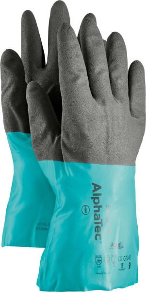 Handsch.AlphaTec 58-270, Gr. 11, schwarz/grau