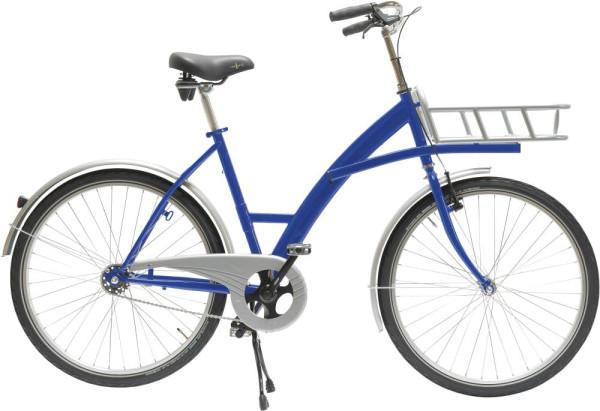 Transportfahrrad Modus blau mit Lastenträger