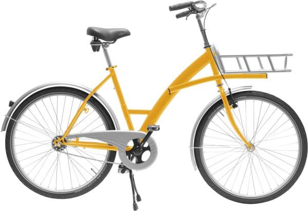 Transportfahrrad Modus gelb mit Lastenträger
