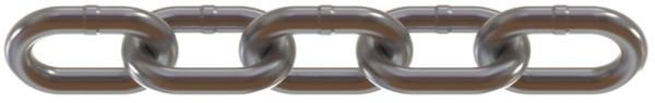 Rundstahlkette DIN5685 2x12x8, galvanisch verz.