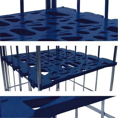 Kunstst.-Etagenboden für 2/3-seit Rollbehälter
