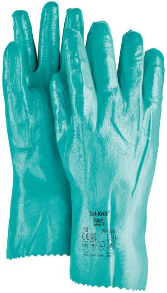 Handsch. Sol-Knit 39-122,rau,310 mm,Gr. 10