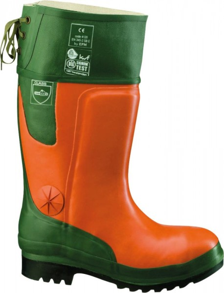 Forst-Gummistiefel Ulme orange/grün Größe 40